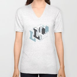 The Exploded Alphabet / L Unisex V-Neck