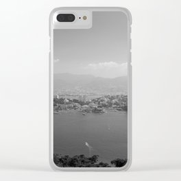 Black and White Acapulco Clear iPhone Case