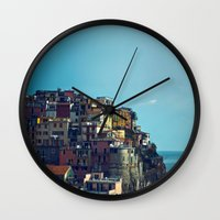 italy Wall Clocks featuring Italy by Rupert & Company
