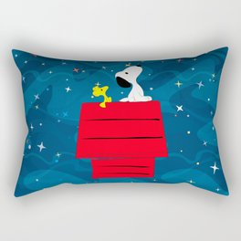 Snoopy Looking at The Stars Rectangular Pillow