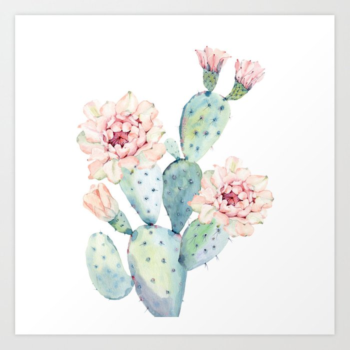 The Prettiest Cactus Art Print By Naturemagick Society6