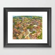 Aerial Landscape Framed Art Print