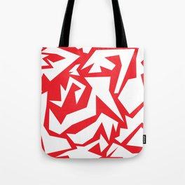 weird red art Tote Bag