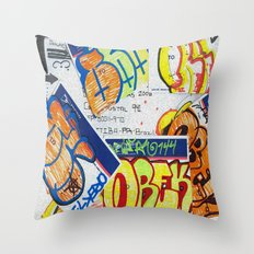 Philly to Brazil Throw Pillow