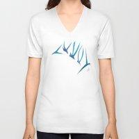 flight V-neck T-shirts featuring Flight by Dawn Patel Art
