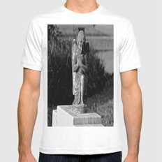 She Was an Angel White MEDIUM Mens Fitted Tee