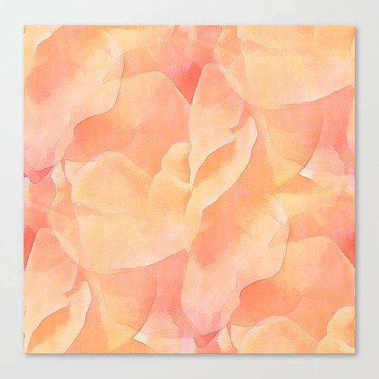 Nothing But Peach Canvas Print
