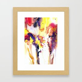 Abstract watercolor flowers Framed Art Print