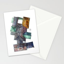 Taiwanese roofscapes 03 Stationery Cards
