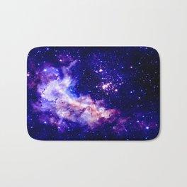 indigo galaxy : Celestial Fireworks Bath Mat