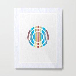Layered Trinity Rainbow: Circles 0 Metal Print