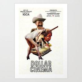 Dollar Cinema Art Exhibition Poster Art Print