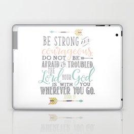 Joshua 1:9 Bible Verse Laptop & iPad Skin