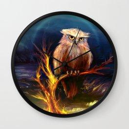The Phoenix Owl Wall Clock