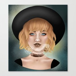 Rose Girl Canvas Print