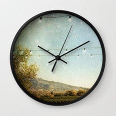 Starlit Vineyard Wall Clock