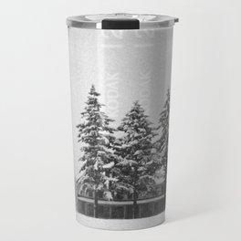 Snowstorm at the Fort Travel Mug