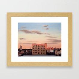 Pastel Sunset Studio View  Framed Art Print