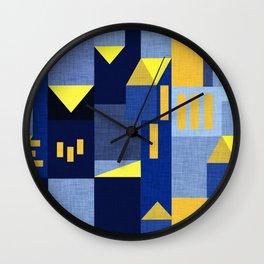 Blue Klee houses Wall Clock