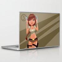 lara croft Laptop & iPad Skins featuring Lara by Pweety Sexxay