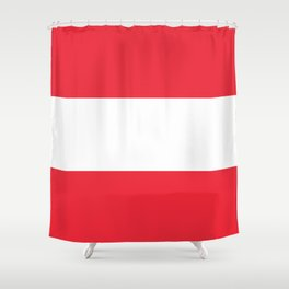 Austrian National flag - authentic version (High quality image) Shower Curtain