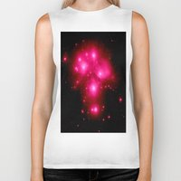 constellation Biker Tanks featuring constellation : 7 Sisters of Pleaides by 2sweet4words Designs