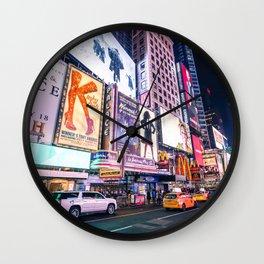 New York Neon Jungle Wall Clock