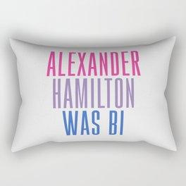 Alexander Hamilton Was Bi #2 Rectangular Pillow