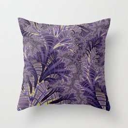 Violet Fractal Throw Pillow
