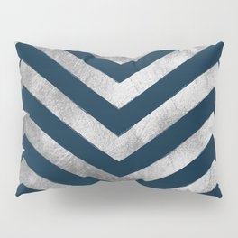 Navy & Silver Chevron Pattern Pillow Sham