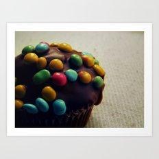 Choco Cupcake Art Print