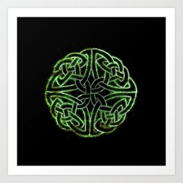 Celtic Glow Art Print