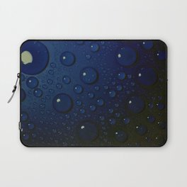 Midnight Blue to Stars in Droplets Polka Dots Laptop Sleeve