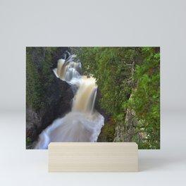 Beautiful Waterfall in Northern Minnesota Mini Art Print