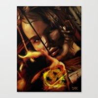 katniss Canvas Prints featuring Katniss by tgronberg
