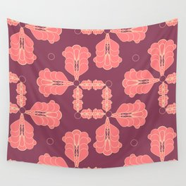 Mauve Geo Flourish Wall Tapestry