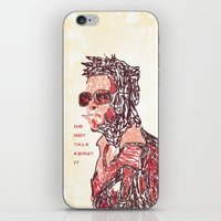 tyler durden iPhone & iPod Skins featuring Tyler by Fimbis