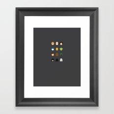 Famous Capsules - StarWars Part. 1 Framed Art Print
