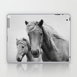 Horses - Black & White Laptop & iPad Skin