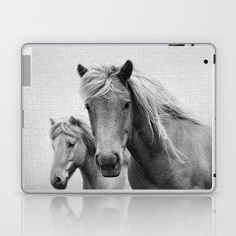 Horses - Black & White Laptop & iPad Skin