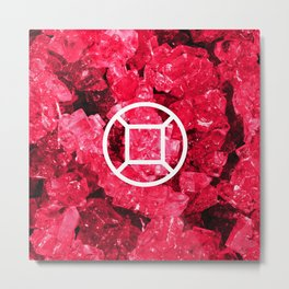 Ruby Candy Gem Metal Print