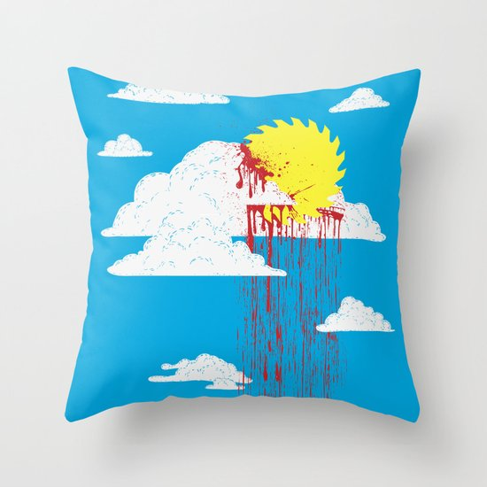 From a Lacerated Sky Throw Pillow