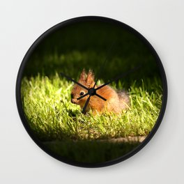 Cute Squirrel Cub #decor #society6 Wall Clock