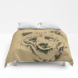 Burlap Bear Comforters