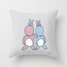 Bunny Ears Throw Pillow