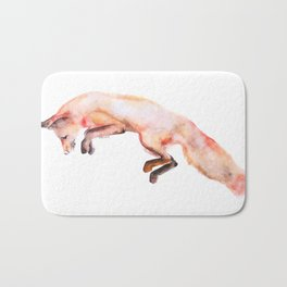 Catching Prey Watercolor Illustration Bath Mat
