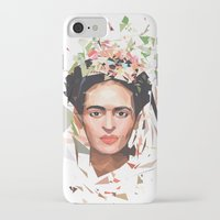 frida iPhone & iPod Cases featuring Frida by Tracie Andrews
