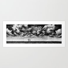 Fingerprint - Rainfall Art Print