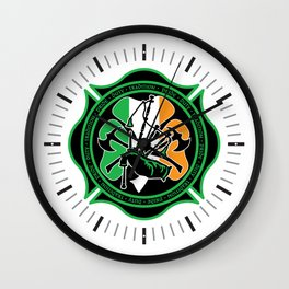 Firefighter Bagpipes Wall Clock
