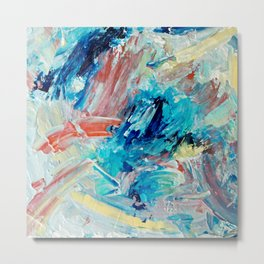 Contemporary Abstract Splash Landing Metal Print